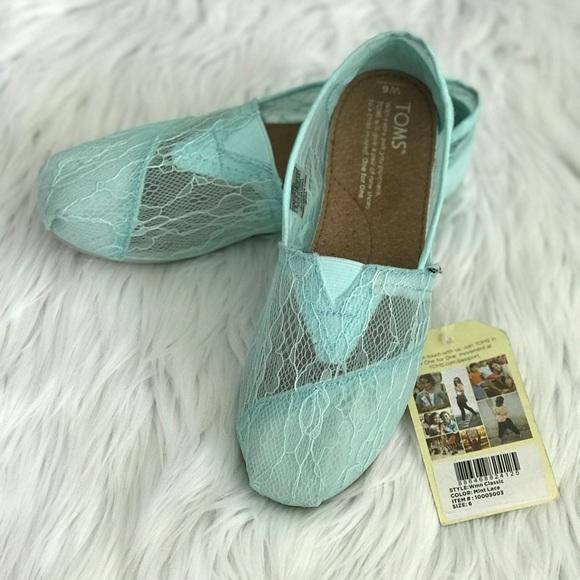 622e31542e8ad4 Toms shoes womens classic mint lace slip on flat shoe poshmark jpg 580x580 Mint  toms